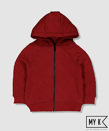 Mothercare My K Burgundy Quilted Zip-Through Hoodie