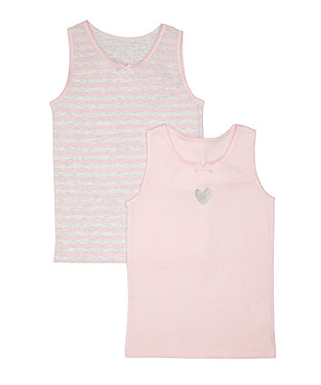 Heart And Stripe Vests - 2 Pack
