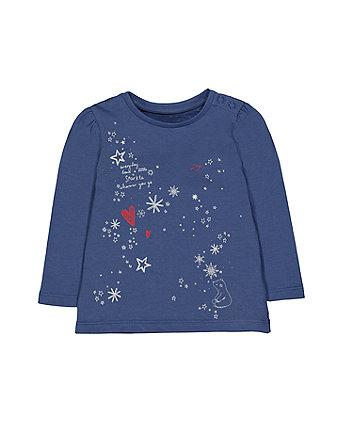 Mothercare Blue Sparkle T-Shirt