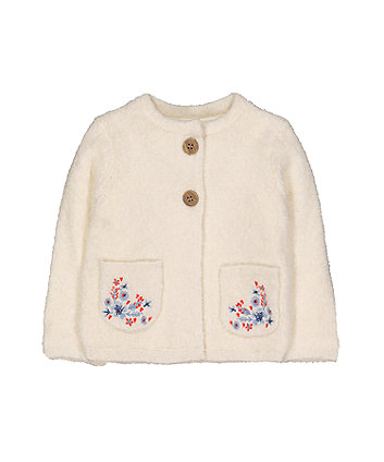 Mothercare Cream Boucle Cardigan