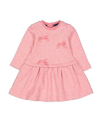Pink Bow Sweater Dress