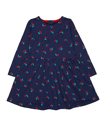 Mothercare Navy Cherry Dress