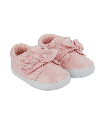 Mothercare Pink Sparkle Bow Trainers