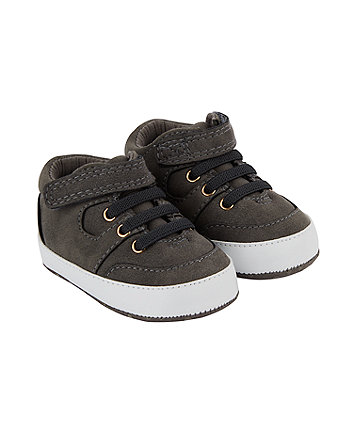 Mothercare Grey Hi Top Trainers