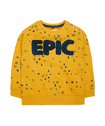 Mustard Epic Sweat Top