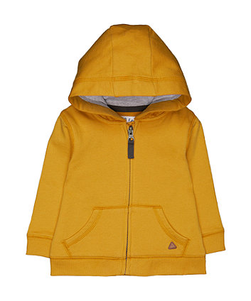 Mustard Zip-Through Hoodie