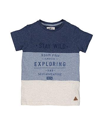 Blue Stripe Stay Wild T-Shirt