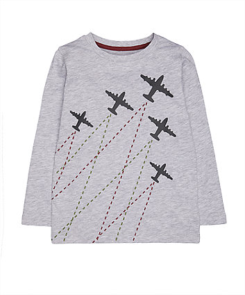 Mothercare Grey Planes T-Shirt