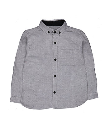 Grey Textured Shirt