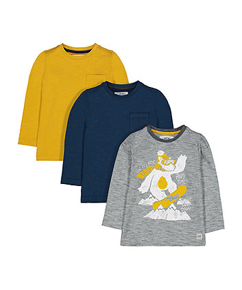 Snowboarding Polar Bear T-Shirts - 3 Pack