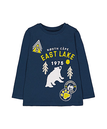 Blue East Lake Bear T-Shirt