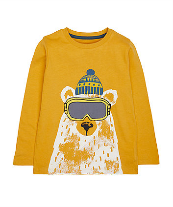 Mustard Polar Bear T-Shirt