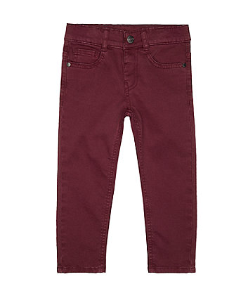 Mothercare Burgundy Trousers