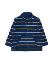 Navy, Yellow And White Stripe Fleece