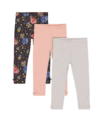 Floral Leggings - 3 Pack