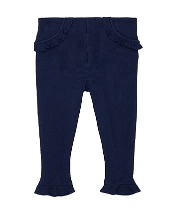 Mothercare Navy Ribbed Leggings