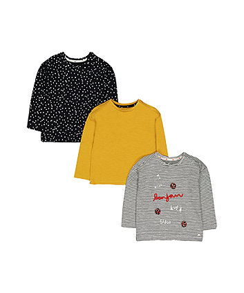 Stripe And Spot T-Shirts - 3 Pack