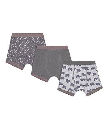 Grey Bear Trunks - 3 Pack
