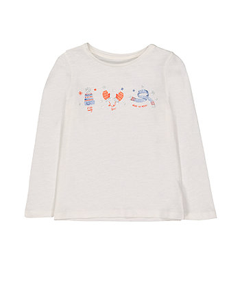 White Stay Cosy T-Shirt