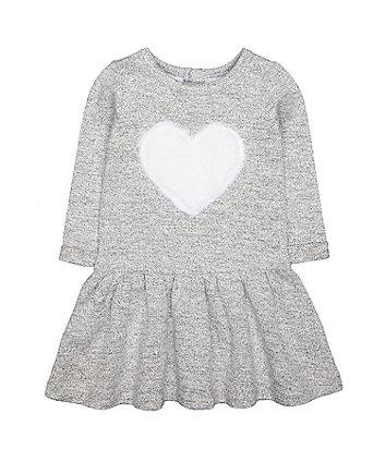 Mothercare Grey Heart Sweater Dress