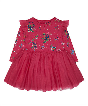 Pink Floral Tutu Dress
