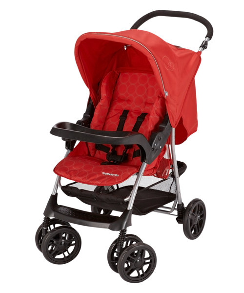 Mothercare U Move Pushchair Travel System - Red Circles