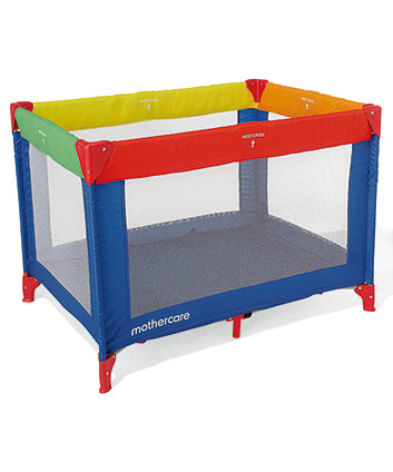 Mothercare Primary Colours Travel Cot