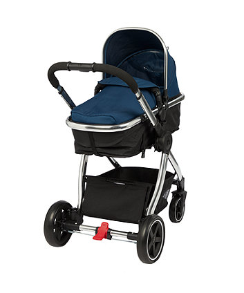 Mothercare 4-Wheel Journey Chrome Travel System - Petrol Blue