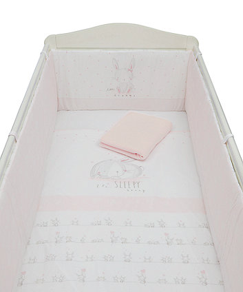 My First Bed in a Bag with Long Bumper - Pink