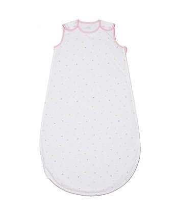 Mothercare Confetti Party 0.5 Tog Snoozie Sleep Bag - 0-6 Months