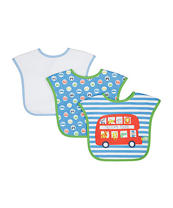 Mothercare On The Road Bibs - 4 Pack