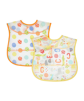 Mothercare hello friend toddler crumb catcher bibs - 2 pack