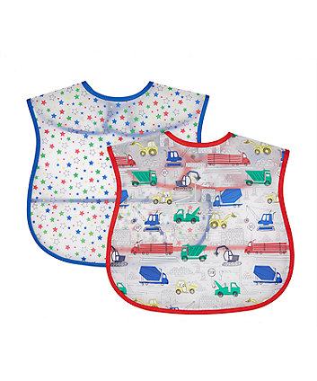 Mothercare Build It Up Toddler Crumbcatcher Bibs - 2 Pack