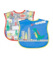Mothercare Dino In The City Crumb Catcher Bibs - 2 Pack