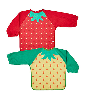 Mothercare Fruit Towelling Coverall Bibs - 2 Pack