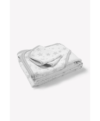 Mothercare Grey Towel Bale - 3 Pack