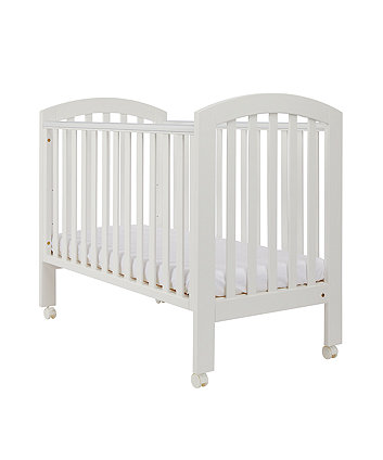 Mothercare Ashworth Dropside Cot with Wheels - White