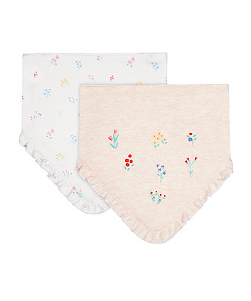 Mothercare Floral Dribbler Bibs - 2 Pack