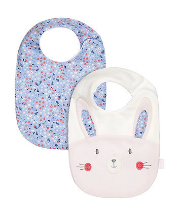 Mothercare Woodland Friends Newborn Bibs - 2 Pack