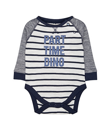 Mothercare Part Time Dino Bodysuit