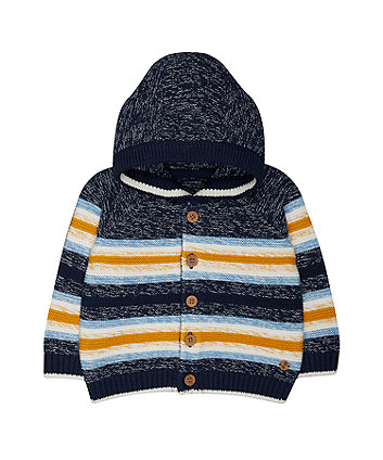 Mothercare Striped Hooded Cardigan