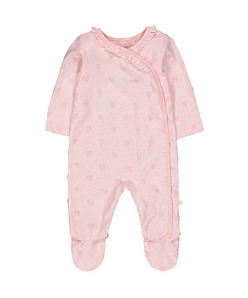 Mothercare My First Velour Heart All In One