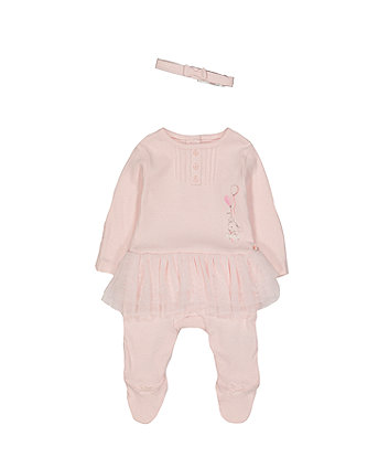 Mothercare My First Tutu All In One And Headband Set