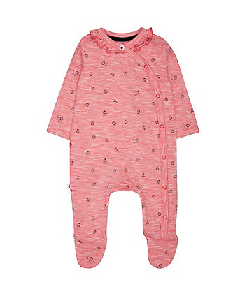 Mothercare Striped Strawberry All In One