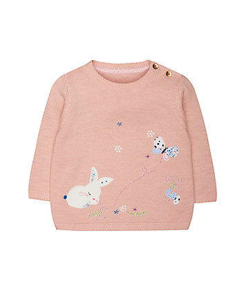 Mothercare Pink Bunny Jumper