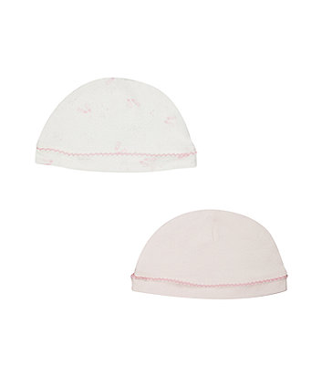 Mothercare My First Pink Hats - 2 Pack