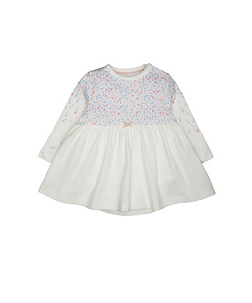 Mothercare White Floral Romper Dress