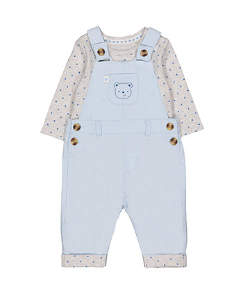 Mothercare My First Cord Dungarees And Bodysuit Set
