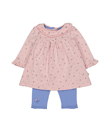 Mothercare Ditsy Dress And Leggings Set