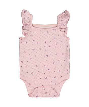Mothercare Pink Floral Cami Bodysuit